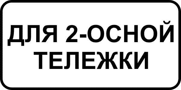 запрещающий знак со знаком дополнительной информации